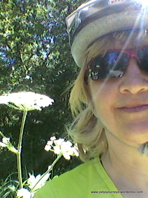 Selfie with Queen Anne Lace